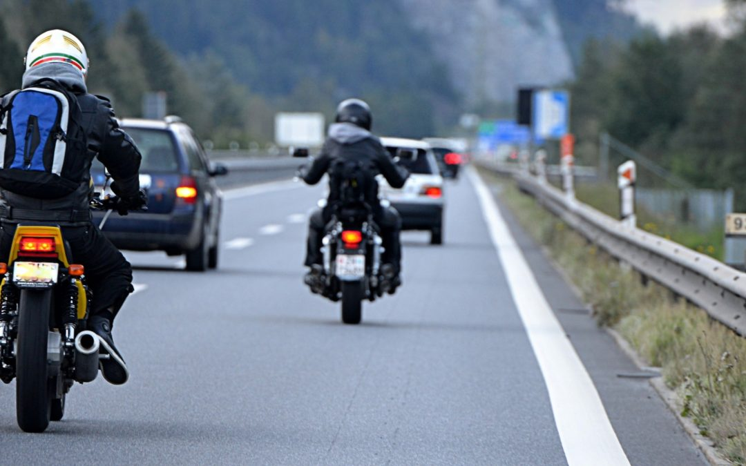 motorcycle race on highway