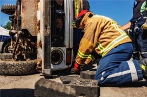 18-Wheeler Accident on Highway 99 Leaves Woman Pinned