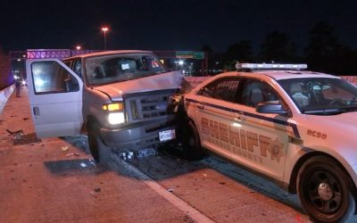 Suspected Intoxicated Driver Injured, Two Sheriff's Office Vehicles Struck in Crash