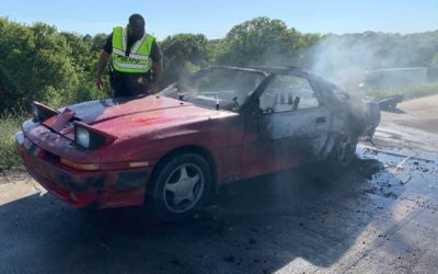 Toyota Explodes on Texas Highway, Caught on Video
