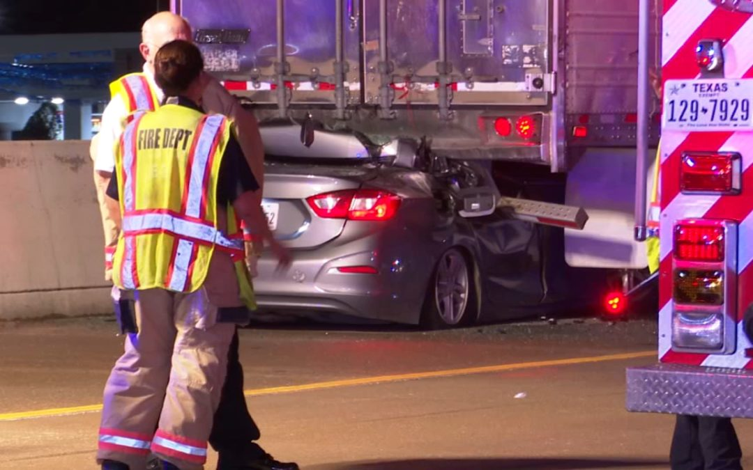 Driver Killed After Colliding With Tractor Trailer on Freeway Shoulder